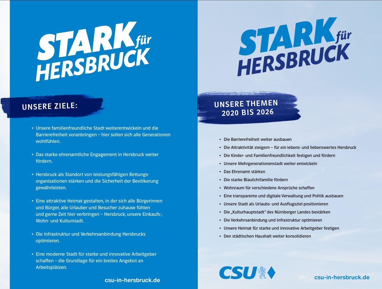 Die Ziele und Themen der CSU für 2020 bis 2026